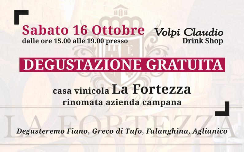 Degustazione gratuita vini cantina La Fortezza